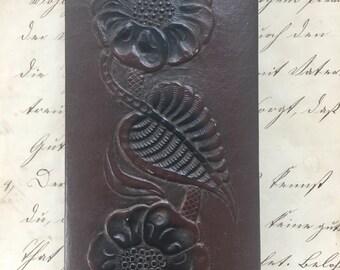 Vintage Leather Embossed Ink Blotter