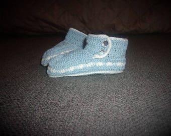 Thread Crochet Baby Booties