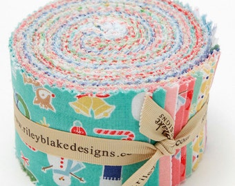 SPRING SALE - Rolie Polie (40 strips) (Jelly Roll) - Cozy Christmas - Riley Blake Designs - Lori Holt