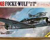 "Reserved for ""Derra"" 1/48 FOCKE-WULF Fighter Kit Scale Craft Fw-190 D-9 German WWII Airplane Complete w/Decals Instructions Fujimi"