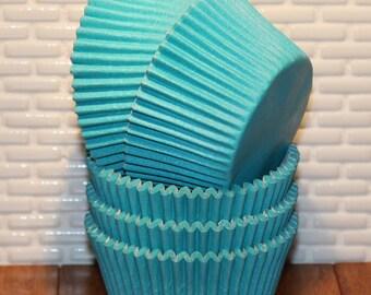 Aqua Designer Heavy Duty Cupcake Liners   (Qty 40) Aqua Cupcake Liners, Aqua Baking Cups, Aqua Muffin Cups, Cupcake Liners, Baking Cups