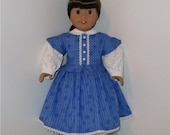 Reserved for Linda--Civil War Dress and Pantaloons, Fits 18 Inch American Girl Dolls