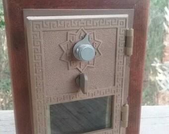 Vintage post office box door bank