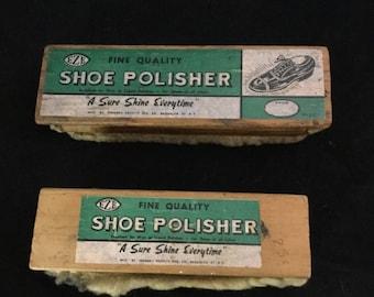 Vintage, Shoe Shine, Polish, Brushes