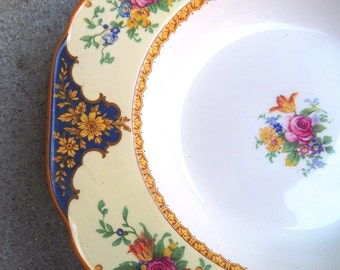 four Crown Ducal Westminster pattern soup bowls - charity for animals