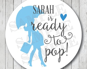 Printable Ready to pop stickers Pink and Gold Ready to pop