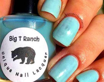 Unique Solar Color Changing Clear - Sky Blue Nail Polish - Full Size 15ml Bottle - Blueberry Sorbet