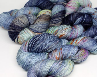 Hand Dyed  Speckled Sock Yarn - SW Sock 80/20 - Superwash Merino Nylon - 400 yards  - One of a Kind - Surprise Party - Locker