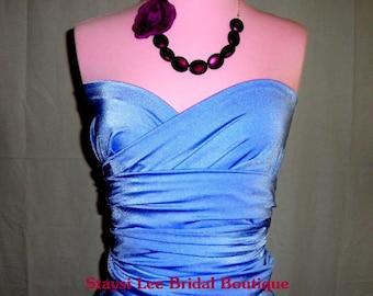 Cornflower Blue Bridesmaids Convertible Wrap Dress XS-7XL Beach Wedding, Bridal Party Dress, Destination Wedding, Bridal Shower
