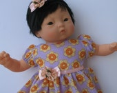 "Clothes for Corolle Mon Premier Calin 12"" Baby Doll Dress and Headband"