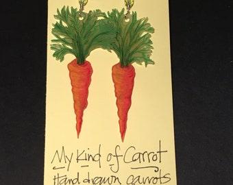 My Kind of Carrot earrings
