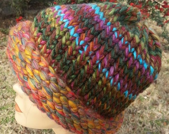 Fall Colors Winter Warmth Extra Heavy Hat Toboggan - OOAK MWL by an EtsyMom