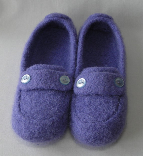Knitting Pattern For Wool Slippers : Knitting Pattern Downloadable PDF - Womens Felted Knit ...