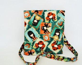 Shoulder bag, shoulder bag, mini travel bag, folding bag, patchwork, walking bag.flap bag, carry bag,,shoulder bag, patchwork, walk bag,