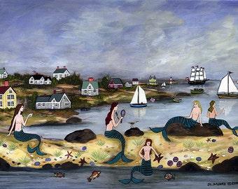 Mermaid Island - Limited Edition Print _ by J.L. Munro