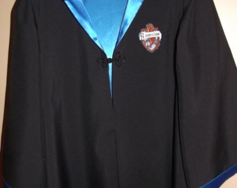 Ravenclaw Robe, Harry Potter inspired, size 10/12 with wand for Dress Up/Birthday/ Christmas