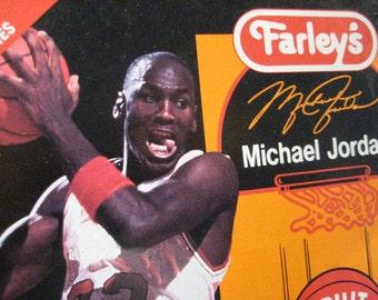 MICHAEL JORDAN Fruit Snacks Box by FARLEY's 1990s