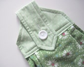 Hanging kitchen towel  button top quilted  cotton  top Pioneer Woman green