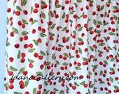 Retro Cherry Decor Kitsch Cherries Kitchen Window Tier Curtain Cafe Curtain