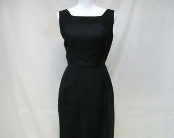ON SALE 50s Sexy Little Black Dress size Medium Wiggle Dress and Jacket Madmen Pinup