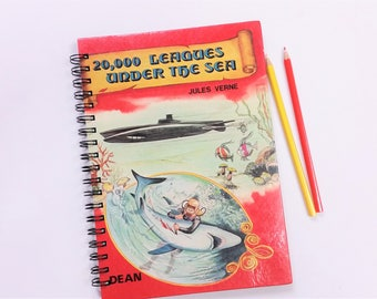 Twenty Thousand Leagues under the Sea, Recycled Book Journal & Notebook