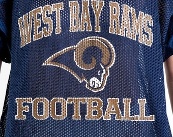 30% OFF HOLIDAY SALE The Vintage West Bay Rams Football Navy Jersey Shirt