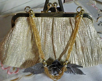 GORGEOUS GOLD Evening Purse - Evening Bag - Elegant - Excellent condition