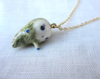 Tiny Ghost Pendant-moss