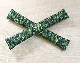 Green Sleep Aid for Women - Lavender Aromatherapy Pillow Sachets - Jungle Leaves