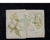 Vintage  Easter Card, Religious Card,  Embossed Card, Collectable Ephemera, Antique Ephemera