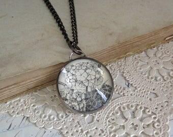 Sweet William Flower Necklace OOAK Garden Jewelry Mother's Day Gift