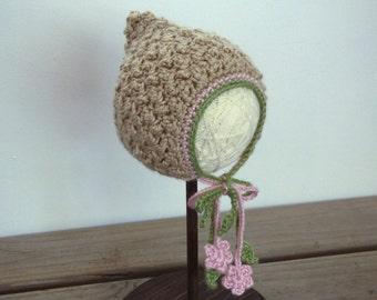 Crochet Hat Pattern: Meadow Bonnet