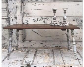 Farmhouse Coffee Table - Vintage Coffee Table - Wooden Bench - Primitive Table - Farmhouse Table - Wooden Coffee Table - Wood Coffee Table -