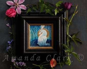 Framed original painting.  Titled 'Hill Top' by Amanda Clark.