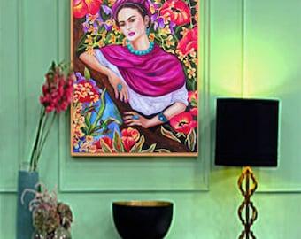 Frida Kahlo, Frida Kahlo Art, Frida Kahlo Art Print, Frida Kahlo Artwork, Frida, Mexican Artist, Fine Art Print