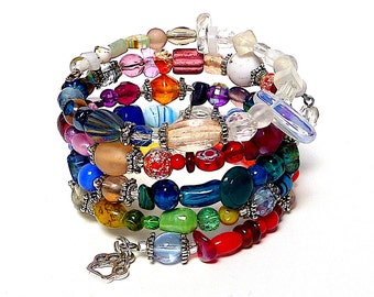 A PRISM to GO coil Beaded Bracelet by Beading Divas Fundraiser