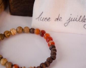 Bracelet agathe bois bohème