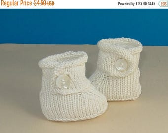 50% OFF SALE Instant Digital PDF File knitting pattern- Baby Simple Trim One Button Booties pdf knitting pattern - madmonkeyknits