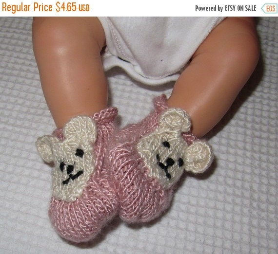 30% Discount Sale Digital file pdf download Knitting Pattern - madmonkeyknits Baby Bear Silk Boots , booties pdf knitting pattern