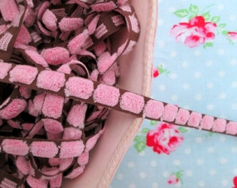Bump Chenille Trim - Sweet Pea Pink -  3/8 inch - 2 Yards
