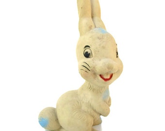 Vintage Rubber Bunny Rabbit Squeak Toy
