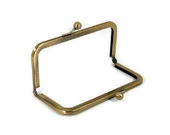 6 x 3 Antique Brass Purse Frame  FREE US SHIPPING