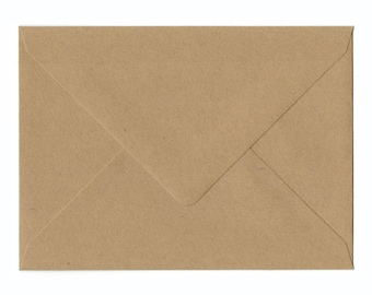 Natural Kraft Business card Envelopes 25/Pk