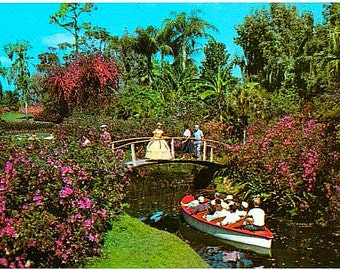 Vintage Florida Postcard - The Boat Cruise at Cypress Gardens (Unused)