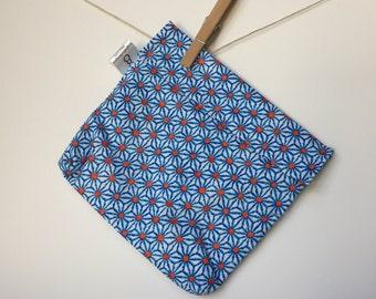 Reusable eco friendly washable Sandwich - blue daisy