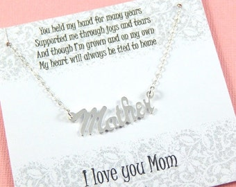 Christmas Sale Gift For Mother, Mothers Necklace, Sterling Silver, Mothers Day Gift, Gift Boxed Jewelry