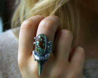 RESERVED - In the Ocean's Flow - Turquoise Sterling Silver Ring