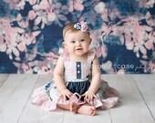 Butterfly Dream Dress, Denim dress, Pink and blue dress, flutter sleeve dress, girls twirl dress, butterfly dress,  by Melon Monkey