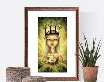 Spring cleaning sale The gift of Life - Signed print