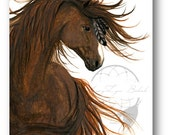Majestic Sorrel Chestnut Horse ArT-  Giclee Print by Bihrle mm149